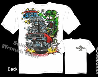 Rat Fink Shirts Cruisin USA Big Daddy T 1967 Chevelle Apparel Ed Roth Tshirt
