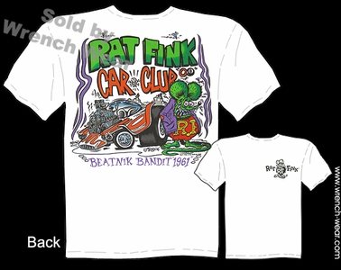 Rat Fink Shirts Rat Fink Car Club Big Daddy Roth T Shirts Beatnik Bandit
