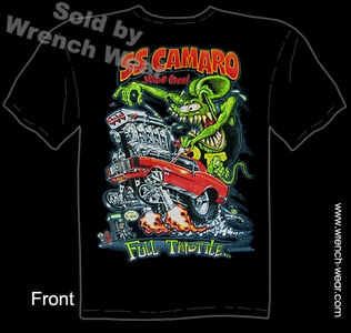 Rat Fink Shirts Big Daddy Roth T Shirts SS 69 Camaro Full Throttle