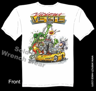 Rat Fink Shirts Vicious Vette Big Daddy T C4 Corvette Clothing Ed Roth Tee