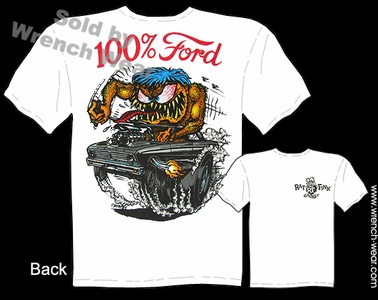 Rat Fink T Shirt 100% Ford Big Daddy Tee 65 Falcon 1965 Ed Roth Clothing Gasser