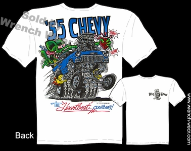 Rat Fink T Shirt 1955 Chevy Gasser Ed Roth Tee Big Daddy Shirts 55 Chevrolet