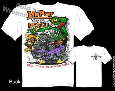 Rat Fink T-shirt Big Daddy Clothing Mopar Tee King Of HEMI'S Dodge T Shirt
