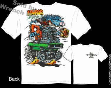 Rat Fink T Shirt Big Daddy Shirts Mopar Rips 1970 Cuda Ed Roth Clothing