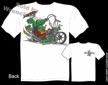 Rat Fink T Shirt Big Daddy Shirts Chopper Show Time Ed Roth Clothing