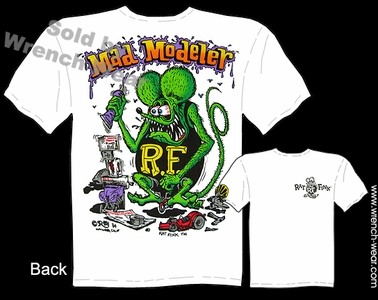 Rat Fink T Shirt Mad Modeler Ed Roth Clothing Big Daddy Tee