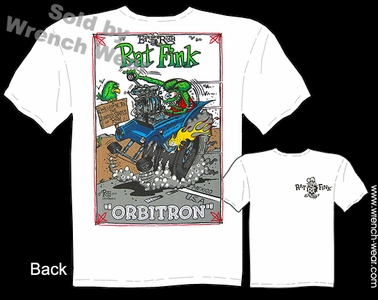 Rat Fink T Shirt Orbitron Ed Roth Tee Big Daddy Clothing Line