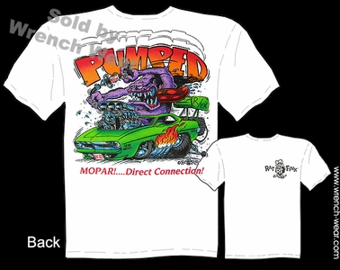 Rat Fink T Shirt Pumped Mopar Big Daddy Tee 70 Hemi Cuda 1970 Ed Roth Clothing