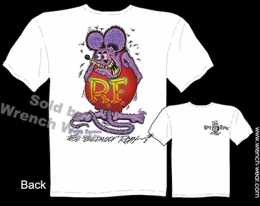 Rat Fink T-shirt Purple Passion Big Daddy T Ed Roth Signature Tee