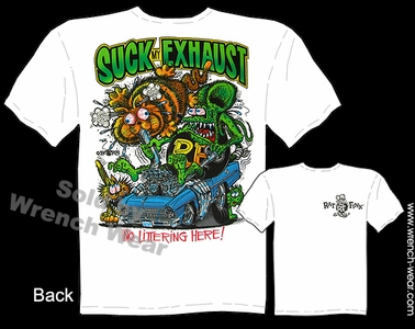 Rat Fink T Shirt Suck My Exhaust 1966 1967 Nova 66 67 Chevy Ed Roth Tee