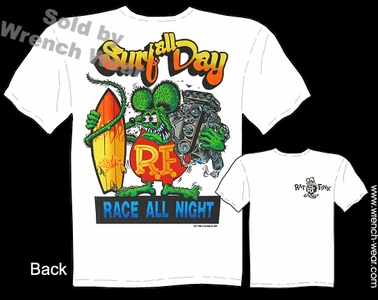 Rat Fink T-shirt Surf All Day, Race All Night Big Daddy Clothing Company Tee