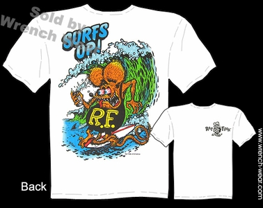 Rat Fink T-shirt Surfs Up! Ed Roth Clothing Big Daddy Shirts