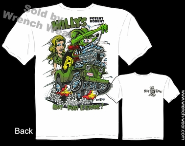 Rat Fink T Shirt Willys Jeep Ed Roth Tee Big Daddy Apparel Potent Rodent
