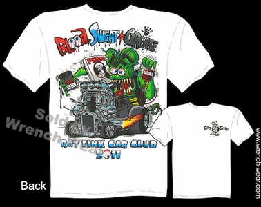 Rat Fink T Shirts Ed Roth Clothing 30 31 Ford Tee Blood Sweat & Grease