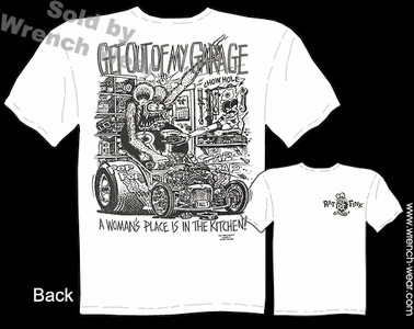 Rat Fink T Shirts Get Out Of My Garage Ed Roth Tee Big Daddy T Shirt