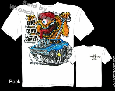 Rat Fink Tee Ed Roth Apparel Big Bad Chevy Biscayne 62 Impala Big Daddy T Shirt
