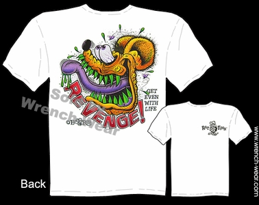Rat Fink Tee Revenge Ed Roth T Shirt Big Daddy Clothing Get Even With Life