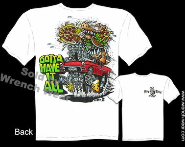 Rat Fink Tshirt Ed Roth Tee 55 Chevy Big Daddy 1955 Gasser Gotta Have It All