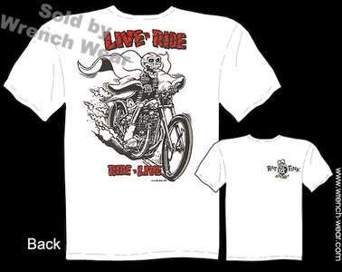 Ratfink T Shirt Big Daddy Clothing Line Tee Live To Ride, Ride To Live
