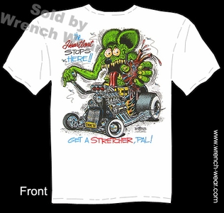 Ratfink T Shirt The Heartbeat Stops Here Ed Roth Tee Big Daddy Shirt