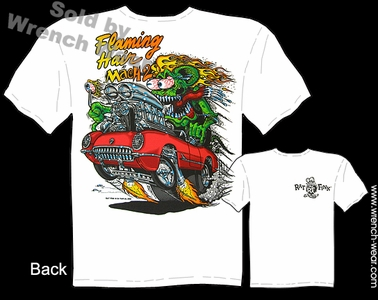 Ratfink T Shirts Big Daddy T Shirt 53 54 55 Corvette Tee Flaming Hair
