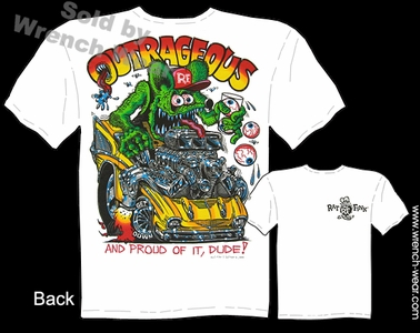 Ratfink T Shirts Outrageous 1957 Chevy 57 Ed Roth Tee Big Daddy Apparel