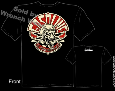 Skull T Shirt High Performance Gasoline Hot Rod T Shirt