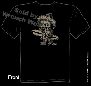 Kustom Kulture Clothes El Borracho Surfer Tattoo T Shirt