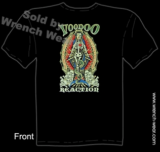 Tattoo T Shirt Kustom Kulture Apparel Voodoo Reaction Tee