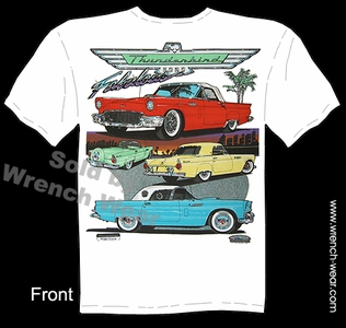 Thunderbird 55 56 57 Ford T Shirts 1955 1956 1957 Classic Car Tee Vintage