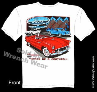 Thunderbird 1955 1956 1957 Vintage Ford T Shirts 55 56 57 Classic Car Tee