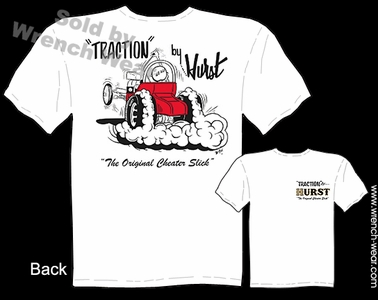 Traction By Hurst T Shirt Vintage Racing Tee Cheater Slick Hot Rod Clothing