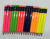 Asst. Neon Hex Golf Pocket Pencils - BLANK (Box of 36)