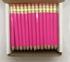 Deep Pink Hex Golf Pocket Pencils - BLANK (Box of 36)
