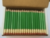 Green Hex Golf Pocket Pencils - BLANK (Box of 48)