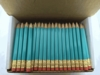 Light Turquoise Hex Golf Pocket Pencils - BLANK (Box of 36)