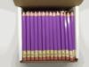 Lilac (purple) Hex Golf Pocket Pencils - BLANK (Box of 144)