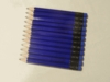 Neon Blue Hex Golf Pocket Pencils - BLANK (Box of 36)