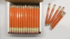 Orange Hex Golf Pocket Pencils - BLANK (Box of 36)
