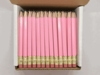 Pastel Pink Hex Golf Pocket Pencils - BLANK (Box of 36)