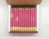 Pink Hex Golf Pocket Pencils - BLANK (Box of 144)