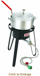 Bayou Classic Alum Fry PotCooker10 PsiTherm, Model# B135