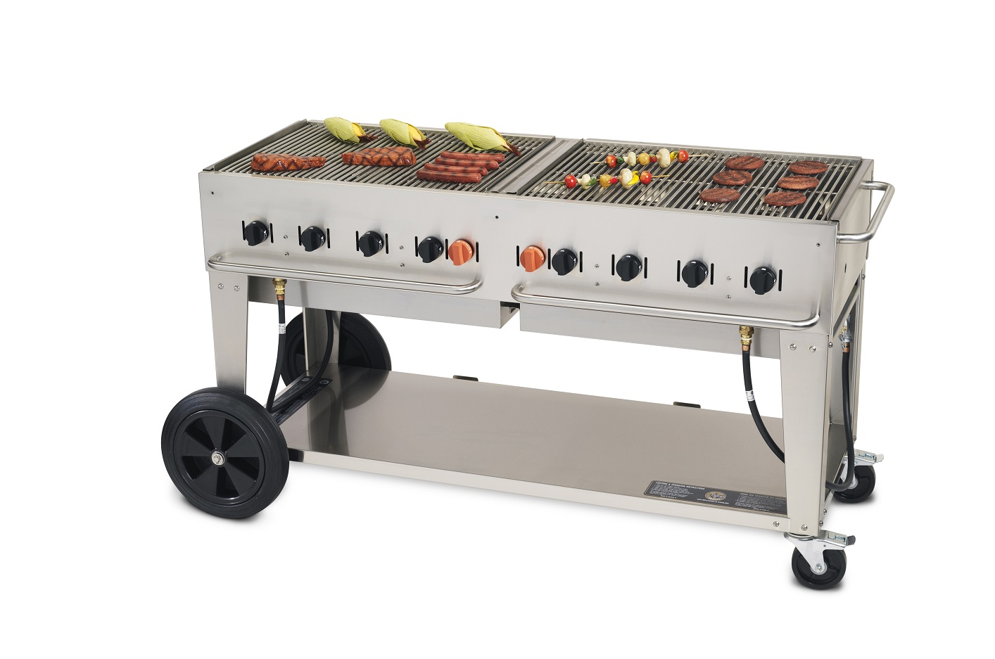 crown verity mobile outdoor bbq grill charbroiler 60 lp gas