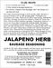 Sausage Maker Jalapeno Herb Sausage Seasoning Makes 50 Lbs , Model# 91550