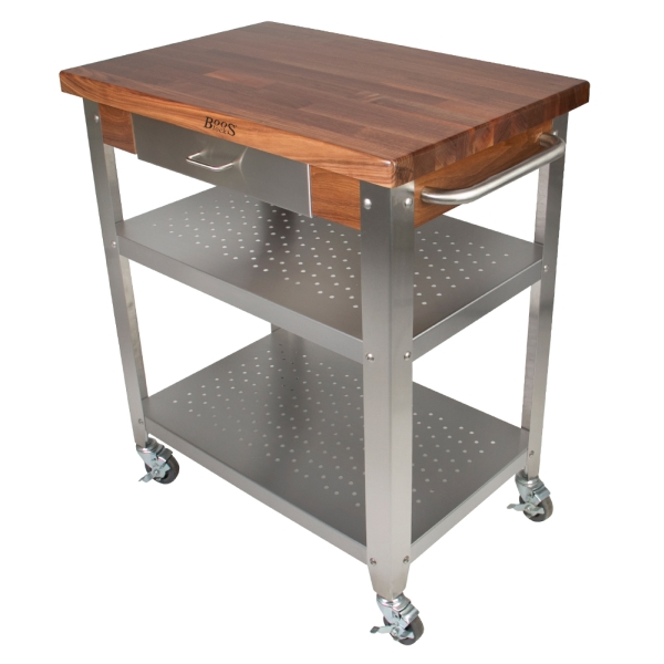 Awesome John Boos Wal Cuce Blended Walnut Cucina Elegante Cart 30X20X1 1/2 Varnique Pictures
