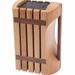 Kapoosh Designer Beachwood Knife Block With Carrying Handle, Model# 640