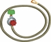 King Kooker High-Pressure Adjust Regulator & Lp Hose Female , Model# 34502