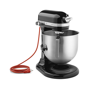 skyfood kitchenaid 8 qt bowl lift comcl st mixer onyx black. Black Bedroom Furniture Sets. Home Design Ideas