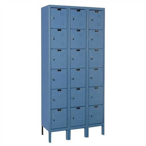Nexel gray 12x12x12 assembled 6 tier 18 door locker for 18 door locker