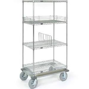 nexel stainless steel 18x48x72 wire shelf dolly truck d1848ns. Black Bedroom Furniture Sets. Home Design Ideas